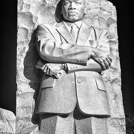 Mlk Memorial In Black And White by Val Black Russian Tourchin