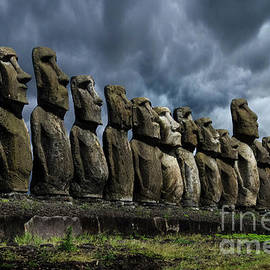 Moai Easter Island Rapa Nui 9 by Bob Christopher