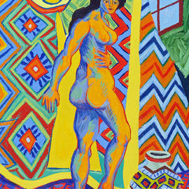 Phillip Castaldi - Model with Tapestry