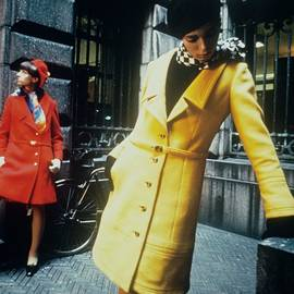 Models In Colorful Coats by David McCabe