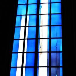 Modern Johannes Schreiter Window Mainz 2 by Sarah Loft