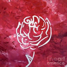 Jilian Cramb - AMothersFineArt - Modern White Rose