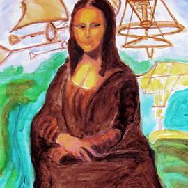 Mona Lisa Tribute To Leonardo Da Vinci  by Stanley Morganstein
