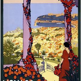 Monaco Monte-Carlo Au Pays Du Soleil - Retro travel Poster - Vintage Poster - Studio Grafiikka