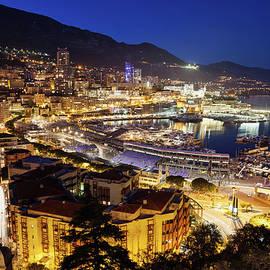 Artur Bogacki - Monaco Port And Monte Carlo At Night