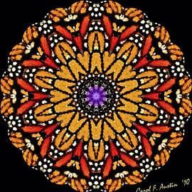 Carol F Austin - Monarch Butterfly Wings Kaleidoscope