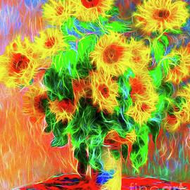 Monet Sunflowers Reimagined by Jerome Stumphauzer