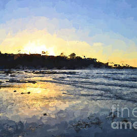 Monet Sunset At La Jolla Shores by Sharon Tate Soberon