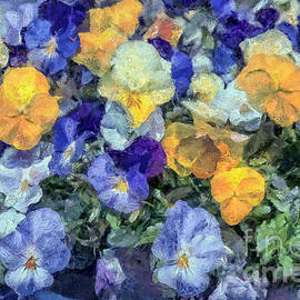 Monet's Pansies by Gene Healy