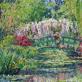 L Diane Johnson - Monets Pond in Spring