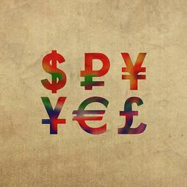 Money Symbols in Watercolor - Design Turnpike