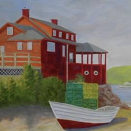 Monhegan Red by Scott W White