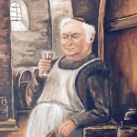 Monk With Wine by Donald Paczynski