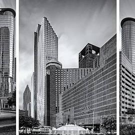 Silvio Ligutti - Monochrome Triptych of Downtown Houston buildings - Harris County Texas