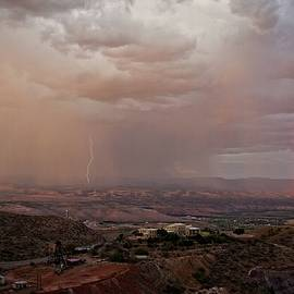 Monsoon Lightning And Rainbow by Ron Chilston
