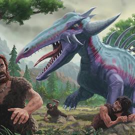 Monster Attacking Cavemen