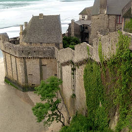 Mont St Michel Outer Wall by Vicki Hone Smith
