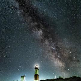 Montauk Lighthouse Milkyway  by Alissa Beth Photography