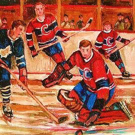 Montreal Forum Hockey Game by Carole Spandau