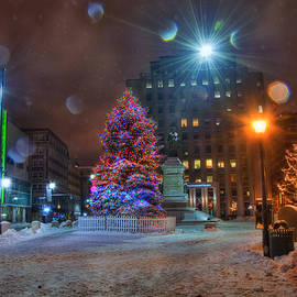 Monument Square - Portland Maine by Joann Vitali