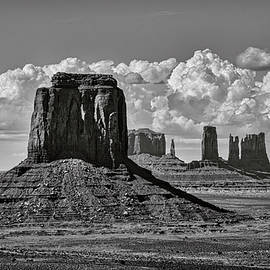 Monument Valley in Black and White  by Saija Lehtonen