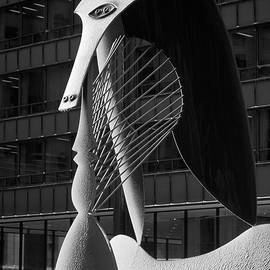 Panoramic Images - Monumental sculpture in front of a building, Chicago Picasso, Daley Plaza, Chicago, Illinois, USA