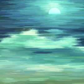 Georgiana Romanovna - Moon and Sea Abstract Realism