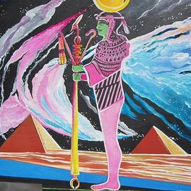 Blaa Kattproduksjoner             Moon God - Osiris by Sigrid Tune