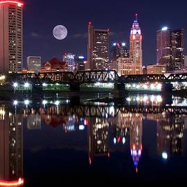 Frozen in Time Fine Art Photography - Moon over the Scioto