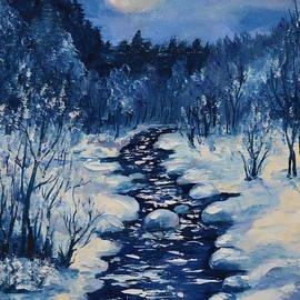 Maryna Borysova - Moon Over The Stream In The Winter Night