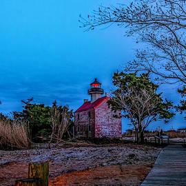Nick Zelinsky - Moonlight over East Point Lighthouse