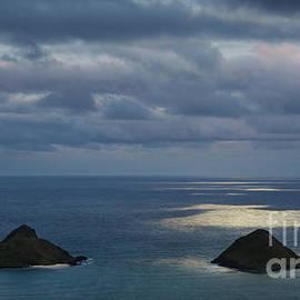 Moonlight Over Mokulua Islands by Charmian Vistaunet