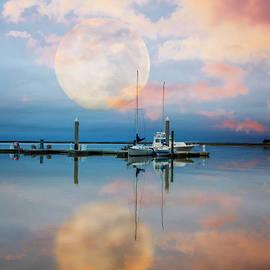 Debra and Dave Vanderlaan - Moonlit Evening Over the Harbor