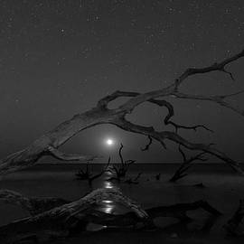 Moonrise in Monochrome by Ray Silva