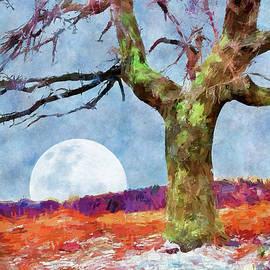 Moonrise on a Snowy Day AP by Dan Carmichael