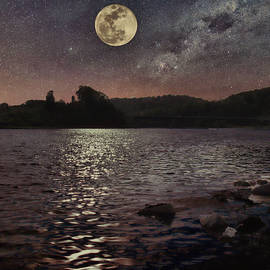 Moonrise on the Holston by Randy Ball