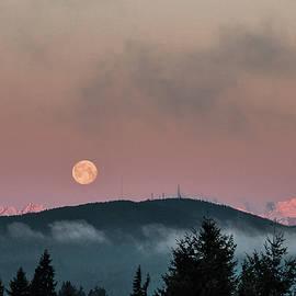 Moonset At Dawn by E Faithe Lester