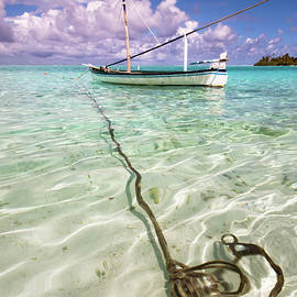 Jenny Rainbow - Moored Dhoni. Maldives