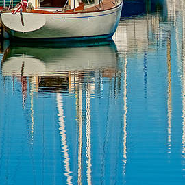 Moored Sailboat, Moss Landing, California by Flying Z Photography by Zayne Diamond
