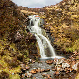 Moorland Waterfall by David Hare