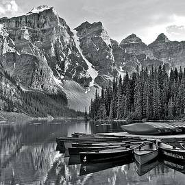 Frozen in Time Fine Art Photography - Moraine Lake Charcoal