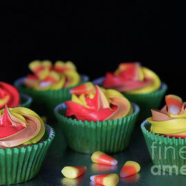 Tracy Hall - More Candy Corn Cupcakes