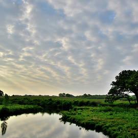Ray Mathis - Morning Clouds Reflected in Nippersink Creek of Glacial Park