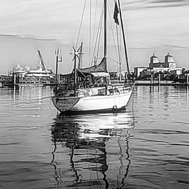 Debra and Dave Vanderlaan - Morning Float in Black and White Sketch