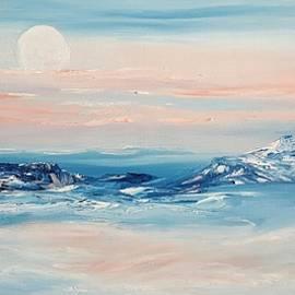 Morning Full Moon by Cheryl Nancy Ann Gordon