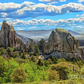 Morning Glory Spire and Anteater City Of Rocks 04 by Robert Bales