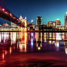 Gregory Ballos - Morning Skyline Reflections of Cincinnati Ohio