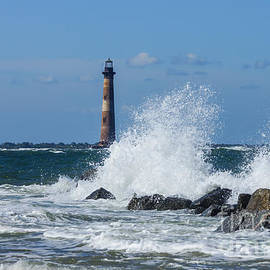 Jennifer White - Morris Island Lighthouse Splash