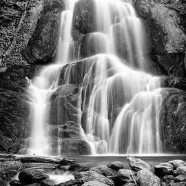 Moss Glen Falls - bw by Stephen Stookey