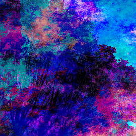Motley Forest at Dusk by Abstract Angel Artist Stephen K